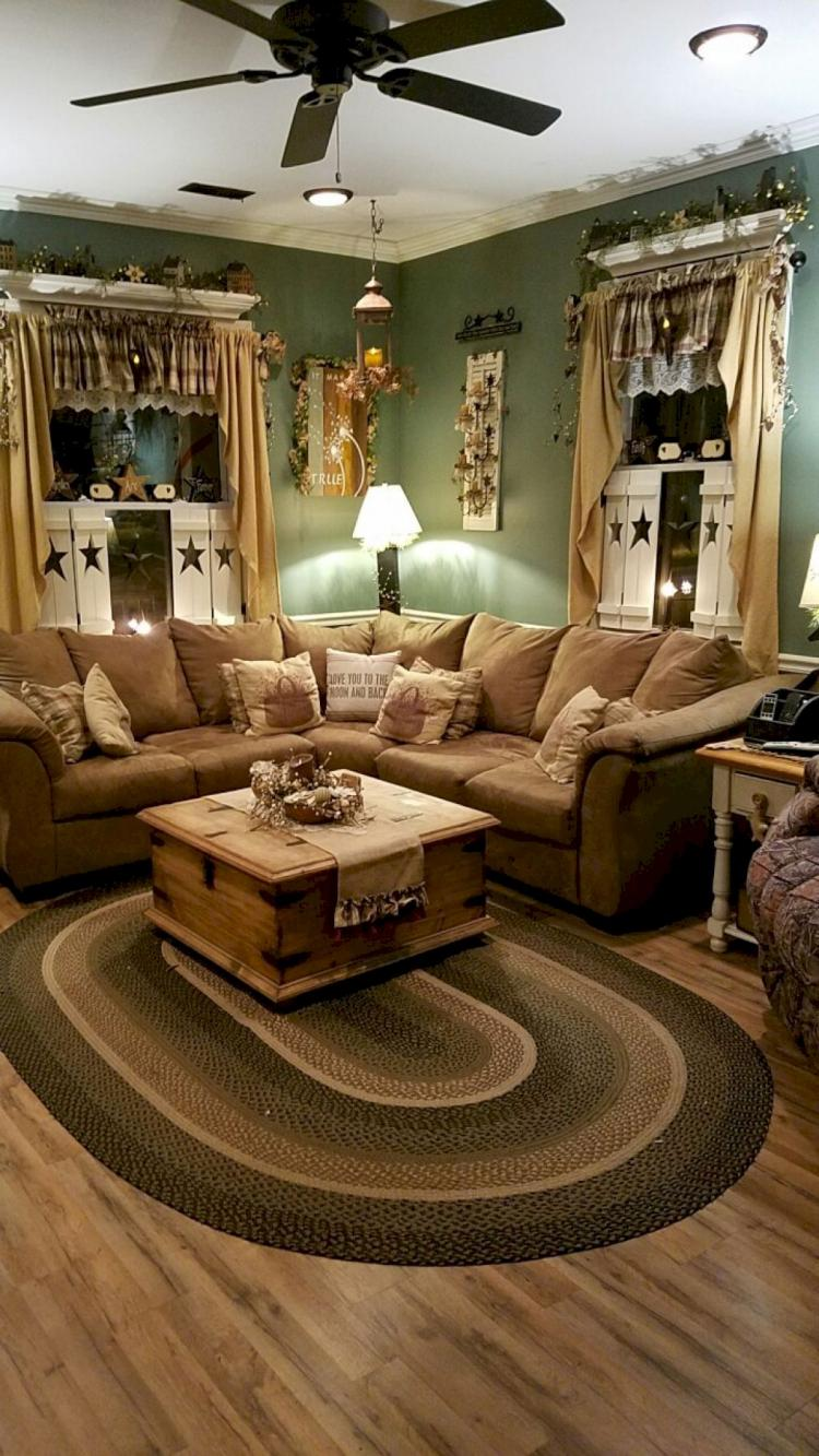 30+ Exciting Farmhouse Living Room Decor Ideas on a Budget on Curtains For Farmhouse Living Room  id=63436