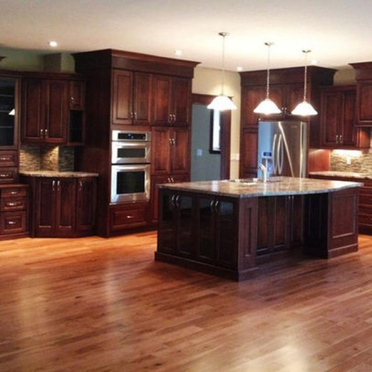 25 Wonderful Cherry Wood Cabinets Kitchen Decorating Ideas