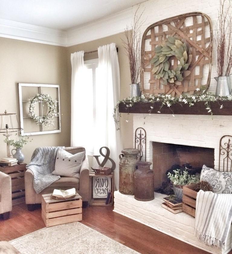 40+ Cozy Modern Farmhouse Apartment Living Room Decorating