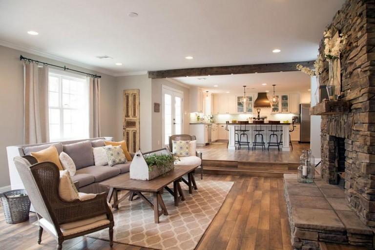 40+ Cozy Modern Farmhouse Apartment Living Room Decorating ...